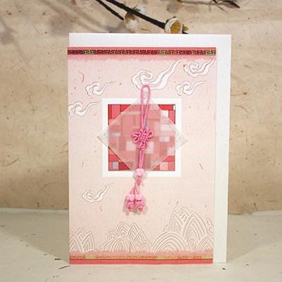 025-sg-0022/매듭카드 (핑크)