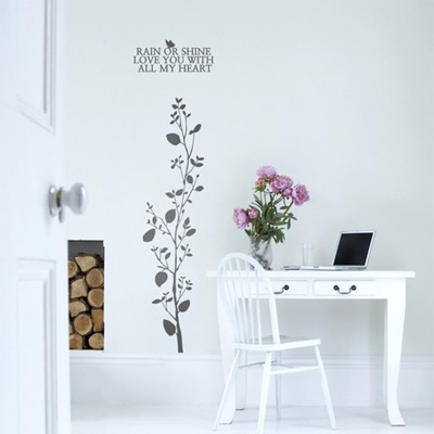 나무줄기(줄기1개) (반제품A)  그래픽스티커 포인트 시트지 인테리어 스티커