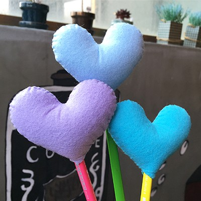 [diy] heart pencil topper-blue type