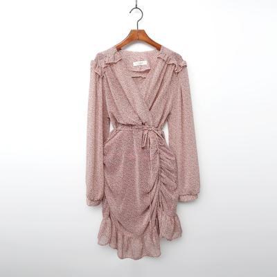 Chiffon Shirring Dress