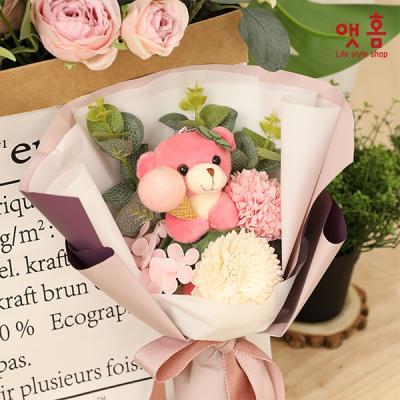 앳홈 베어돌 꽃다발
