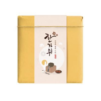 한가위 담주색 보자기 띠종이 (10개)