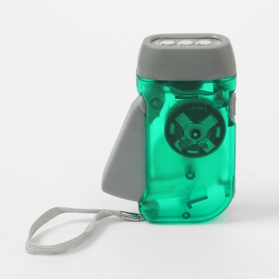 LED 자가발전 비상용 손전등(그린)