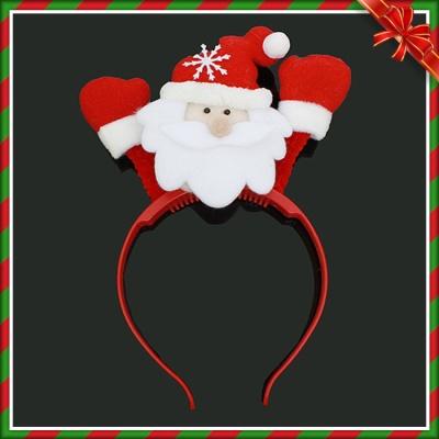 반짝반짝 LED 산타 머리띠 (22cmx12cm)