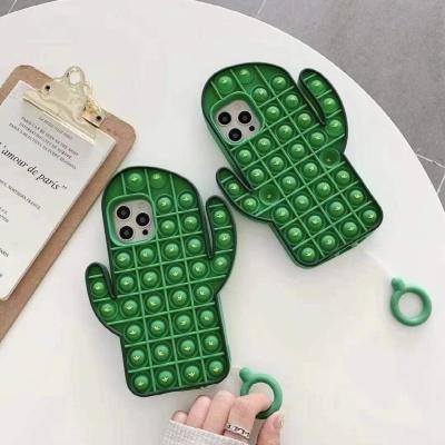 아이폰12케이스 선인장푸쉬팝 실리콘케이스 푸시팝케이스