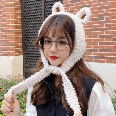 슈크림 귀여운 토끼귀 퍼 귀달이 모자