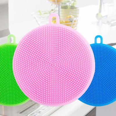 거품듬뿍 행복 설거지 실리콘 수세미 낱개 랜덤발송