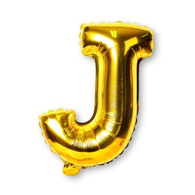 골드 알파벳 풍선-J (1개)