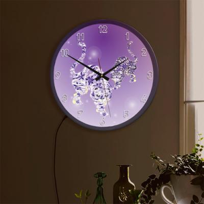 ng095-LED시계액자35R_물방울일러스트