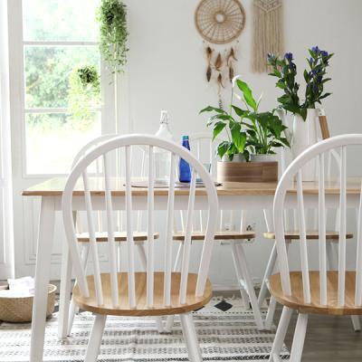 [리비니아]캔버윈저 6인원목식탁세트(의자형) 3colors