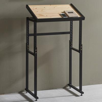 심플라인 철제 원목 테이블 640