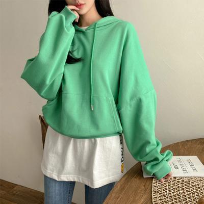 Candy Hood Crop Sweatshirt