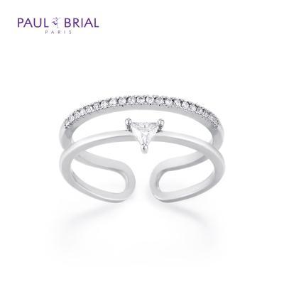 폴브리알 PMBR0011 (WG) 트라이앵글 투라인 반지