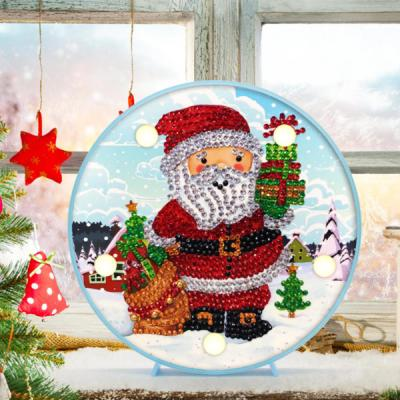 선물과 산타 DIY 십자수 무드등 어린이 보석십자수