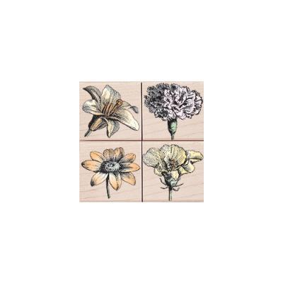 우드 스탬프 blossom etching