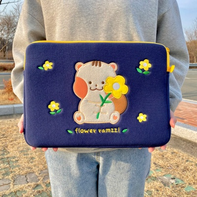 [람찌네소품샵] 꽃람찌 13인치 15인치 노트북 파우치