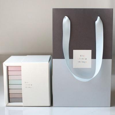 예쁜 종이 손잡이 쇼핑백 초콜릿 포장 선물 종이백