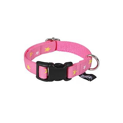 star(pink) jacquard ribbon collar