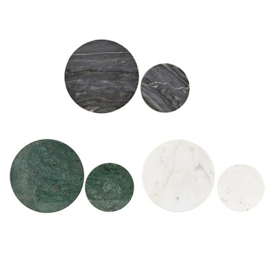 Coaster, RD, set of 2 sizes,marble Sa0833