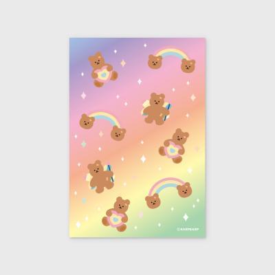 Rainbow bear-pink/yellow(엽서)