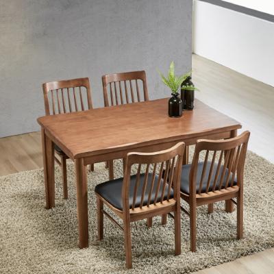 이홈데코 브레첼 원목 식탁 세트 4인용 의자형