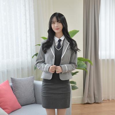 그레이 흰줄라인 자켓(여자) 교복자켓