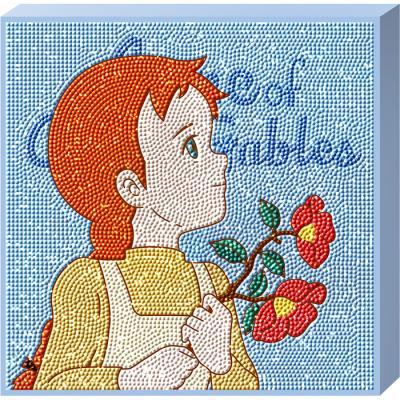 빨강머리 앤 동백꽃 (캔버스) 보석십자수 25x25