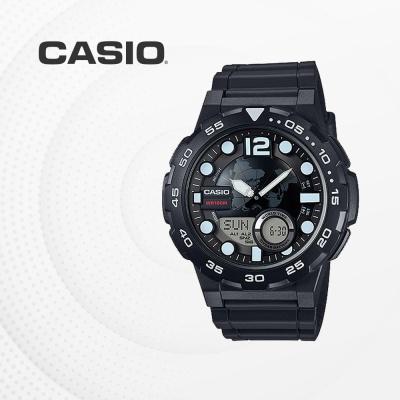 카시오 군인 군용 전자 남성 손목시계 AEQ-100W-1A