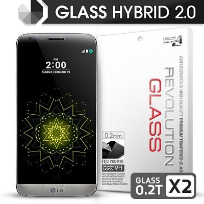 [프로텍트엠] 레볼루션글라스 하이브리드2.0 강화유리 방탄액정보호필름 LG G5/F700