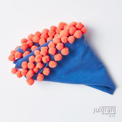 JULGRAN 폼폼 유아스카프(1~6세) 블루