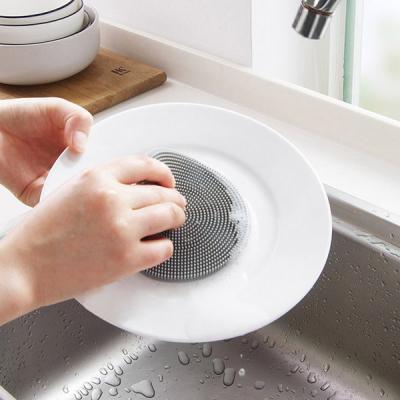 욕실 주방 청소 설거지 위생적인 TPR 실리콘 수세미