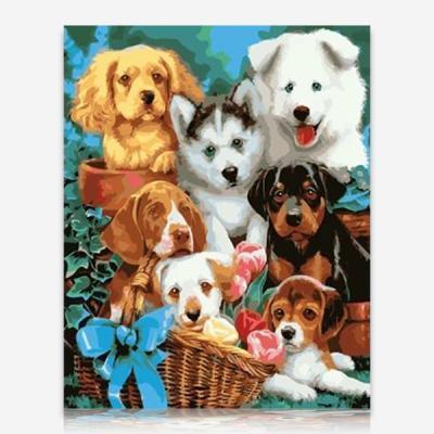 귀여운 강아지들 DIY 보석십자수 십자수 비즈세트