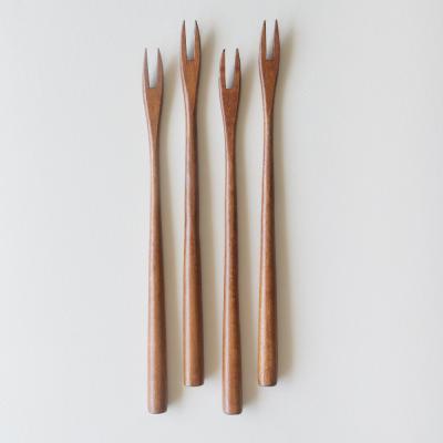 롬우드 로즈원목 나무 롱티포크