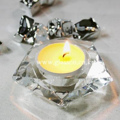 오각크리스탈촛대