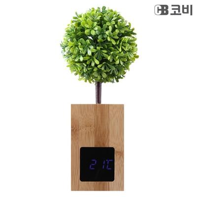 유엠투 BL60 대나무 무소음 LED 알람 시계