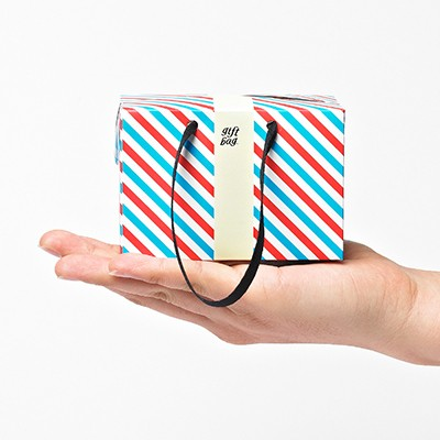 PLUSBOX GIFT BAG (Letter Stripes-Mini) (쇼핑백/포장박스)
