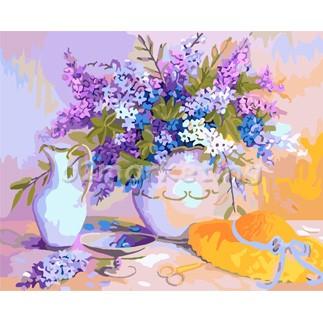 DIY 명화그리기 - DIY 라벤더향기 (G379) 40x50 그림 (유화/그림그리기/직접그리기/아크릴/취미/색칠)