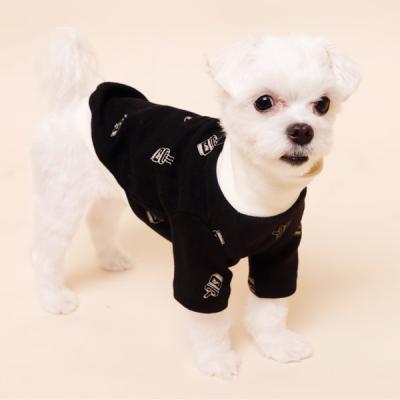 [펫딘]커피 시보리 폴라 배색 강아지옷 티셔츠