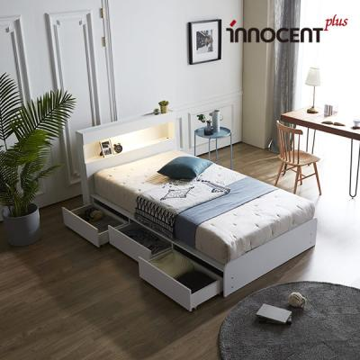 [이노센트] 리브 데이젠 LED 멀티수납형 침대 SS