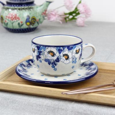 폴란드그릇 아티스티나 티잔&소서세트 200ml 패턴2222