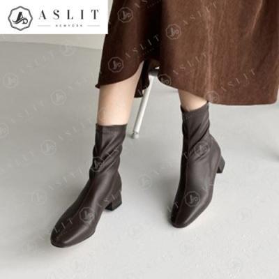 [애슬릿]여성 데일리 청키 힐 스판 부츠 3cm