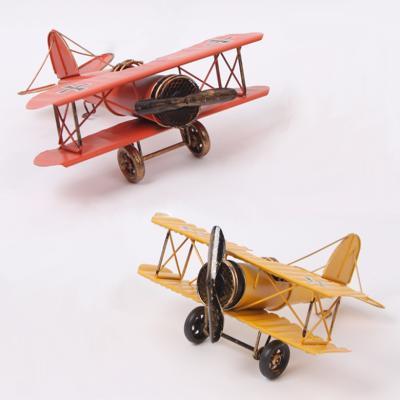 빈티지 독일 비행 전투기 모형 인테리어 소품