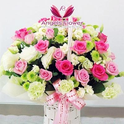 [엔젤스플라워]전국퀵배송 꽃배달 꽃바구니 꽃다발
