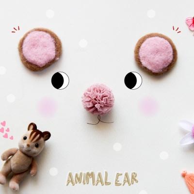 갈색펠트 동물 귀 2p