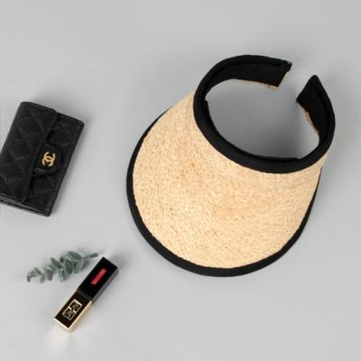 [베네]블랙엣지 라피아 썬캡