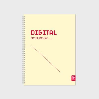 DIGITAL NOTEBOOK 스프링 바인딩 Yellow