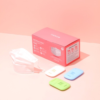 티쿤 3중MB마스크 50매+휴대용 손소독제 3종세트