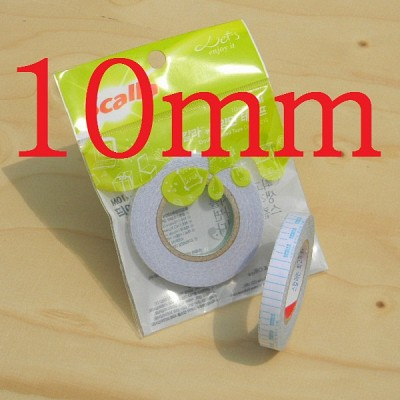 손으로 잘라 쓰는-10mmx10M 스칼라 부직포 Normal 양면 테이프 10개 A463-4s
