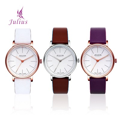 [JULIUS]줄리어스 JA814 시리즈 여성 가죽손목시계 [본사정품]