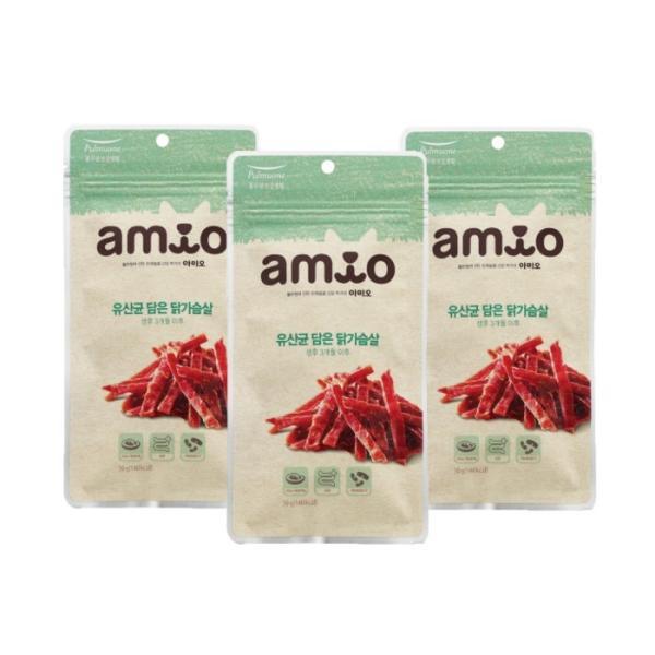 유산균담은 닭가슴살 50g x3개 강아지간식 애견간식